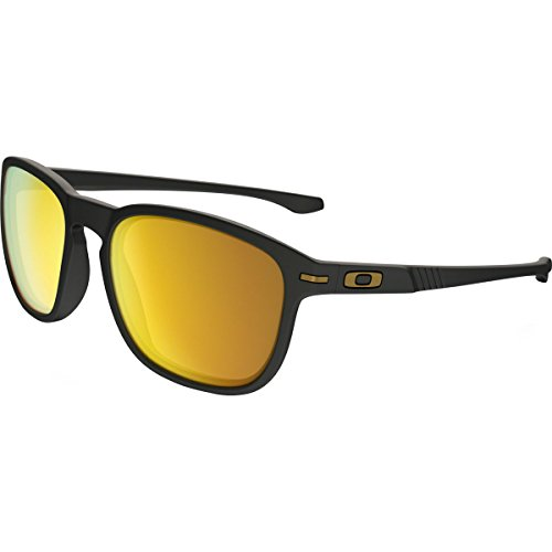 Oakley Men's (a) Enduro Non-Polarized Iridium Oval, Matte Black, 55 ()