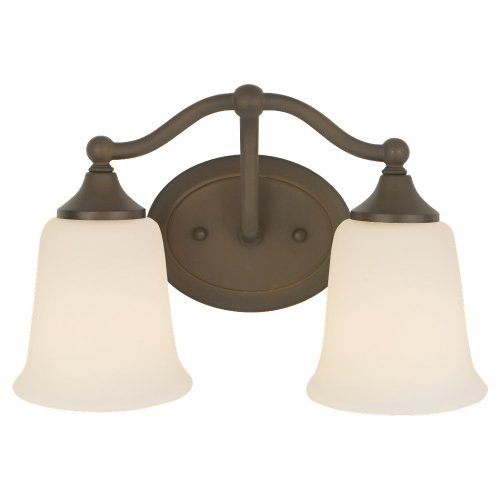 - Murray Feiss VS10502-ORB Claridge Collection 2-Light Vanity Fixture, Oil Rubbed Bronze Finish with White Opal Etched Glass Shades by Murray Feiss