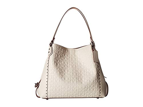 COACH Women's Edie 31 Shoulder Bag in Signature Leather Bp/Chalk One Size ()