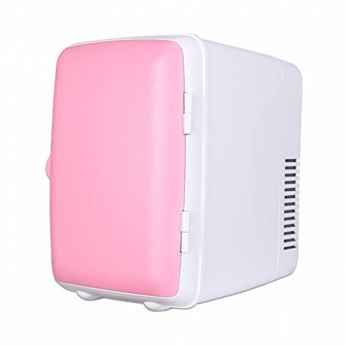 Coche Refrigerador 4L Pequeña Nevera Coche Electrónico Caliente Y Fría Caja de Hogar Solo Pequeño Refrigerador Puede Ser Enfriado / Calefacción,Rosado,Alto 245 ancho 180 profundidad 230 mm by HOMEE @
