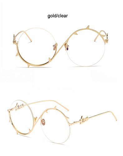 gafas Fashion Gold hip doradas de Cool gafas oculares Brown Pinhole para hop protectoras hombre plateadas Gold sol Steampunk Clear Aprigy de Gafas sol p4zq5w