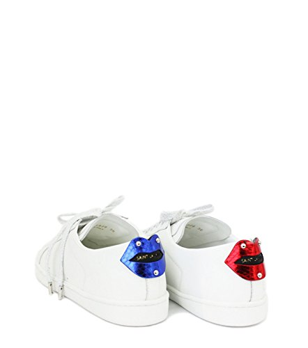 Donna Saint Laurent 484928EXV606547 Sneakers Pelle Bianco EqrTqgzP