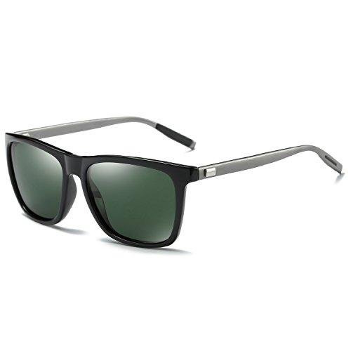 Pro Acme Square Polarized Sunglasses for Men Aluminum Magnesium Temple G15 Lens