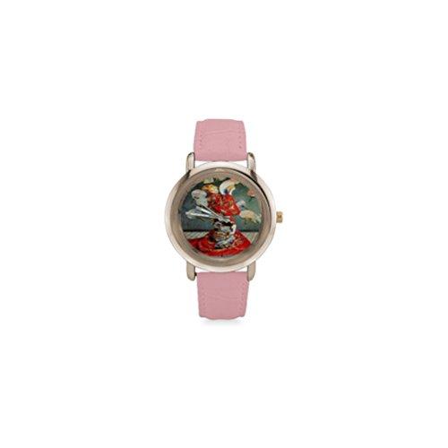[Special Design Famous Painting La Japonaise, Madame Monet en costume japonais by Claude Monet Pink Ladies Leather Alloy High-grade] (Pink Lady Costume Images)