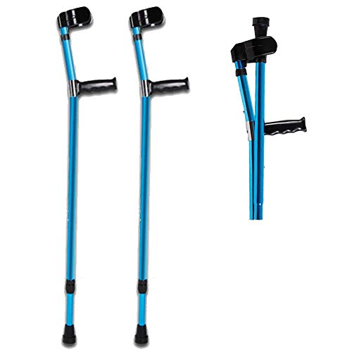 AILSAYA Bend Arm Elbow Forearm Crutch Elbow Crutches Foldable Ultralight Aluminum Assistance Double Adjustable with Comfy Handle, 2pcs Adjustable Anti-Skid Height