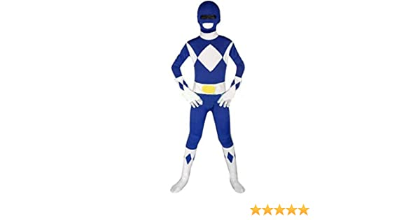 FYBR Disfraz de Power Ranger Azul para niños, Unisex, para niños y ...