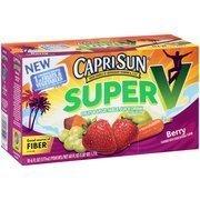 Caprisun Super V Berry Fruit & Vegetable Juice Drink, 6 fl oz, 10 count(Case of 2) by Capri Sun