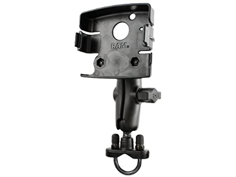 Ram Mount Handlebar Rail Mount with Zinc Coated U-Bolt Base for the Magellan Maestro 3200, 3210, 3220, 3225 and 3250