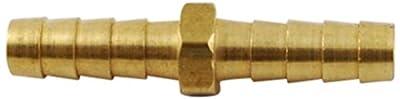 """MettleAir 5/16"""" ID Hose Barb Mender/Splicer/Joiner/Union Fitting Brass Tubing Hose Adapter/Coupler"""