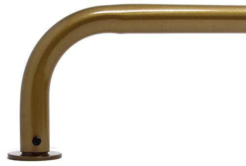 "Urbanest Energy Saving Wraparound Black Out Return 1-inch Diameter Metal Rod Set (Renaissance Gold, 84""-120"")"