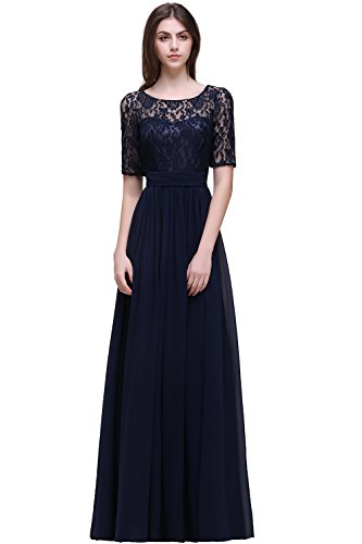 Babyonlinedress Women Long Sleeve Evening Dresses for Special Occasion,Navy Blue,Size 14 ()