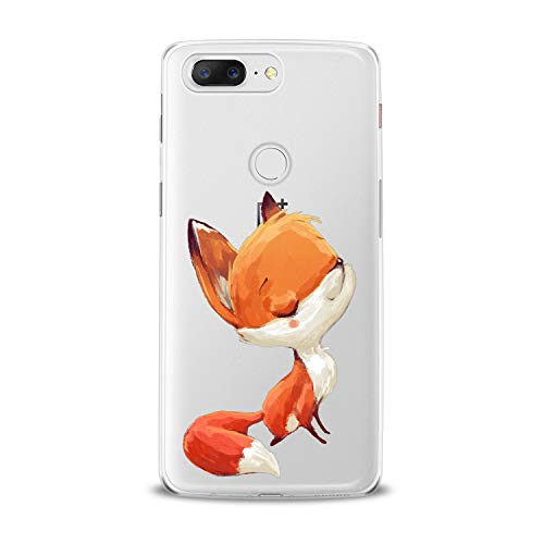 Lex Altern TPU Case for OnePlus 7 Pro 6T 6 2019 5T 5 2017 One+ 3 1+ Clear Kawaii Orange Fox Sleepy Cute Tender Cover Print Protective Lightweight Women Soft Silicone Transparent Teen Girl Smooth]()