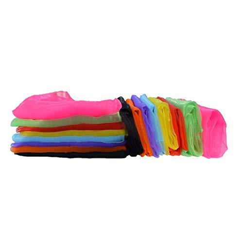 Dance Scarves 16pcs for Juggling/Kindergarten Performance/Decorate Bag/Musical Play 24 * 24
