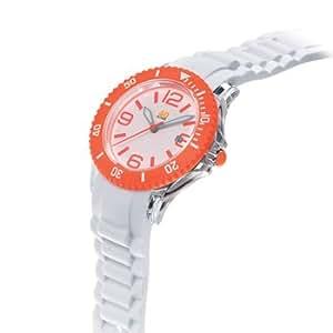 40Nine Unisex 40NINE03/ORANGE3 Medium 40mm Analog Display Japanese Quartz White Watch