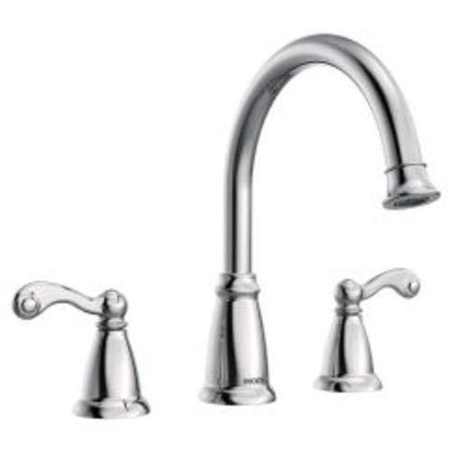 TRADITIONAL 3H RT TRIM CHR / Chrome two-handle roman tub faucet ()