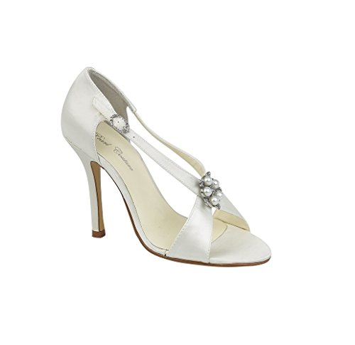 Pearl Couture - Zapatos de vestir de Satén para mujer Marfil marfil Marfil - marfil
