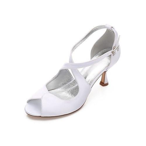 76f5e257e1 Chic SHUAI shoes El mejor regalo para mujer y madre Mujer Zapatos Satén  Primavera Verano Confort Mary Jane D Orsay y Dos Piezas Pump Básico Zapatos  de boda ...