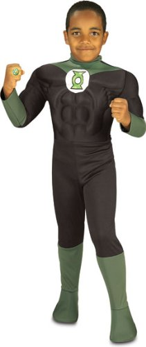 Rubie's Costume Green Lantern Deluxe Muscle Chest Child Costume