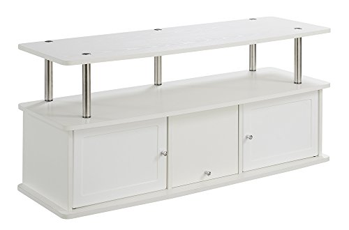 Media Storage Set Tv Stand - Convenience Concepts Designs2Go TV Stand with 3 Cabinets, White