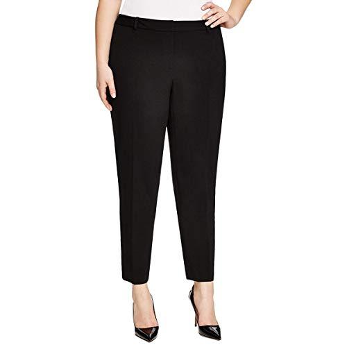 MICHAEL Michael Kors Womens Plus Straight Ankle Pants Black 14W