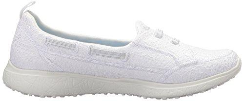 Skechers Womens Microsburst Garza Delicata Sneaker Bianco