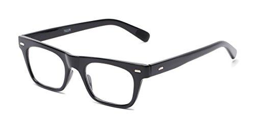 Hollywood Reading Glasses - Readers.com | The Madden +2.50 Black Retro Square Stylish Men's & Women's Full Frame