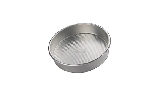 (USA Pan 1070LC-BB-2-1 Bare Aluminum 9 Inch Round Cake Pan, 9