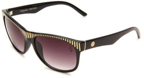 Baby Phat Frames (baby phat B2072SBLK0058 Butterfly Sunglasses,Black Frame/Smoke Gradient Lens,One Size)