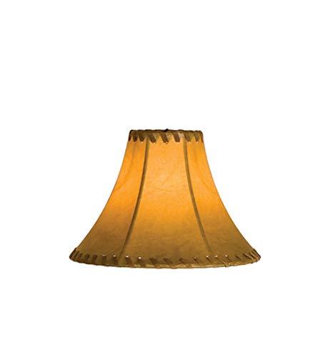 Meyda Tiffany 26350 Faux Leather Hexagon Lamp Shade, 8