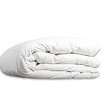 Image of Allied Essentials 100% Cotton Premium Luxe White Goose Down Comforter, White, King/California King Home and Kitchen