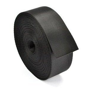 Nylon Webbing Heavy - HG-X 10 Yards Black Nylon Heavy Webbing Strap (1.5 Inch)