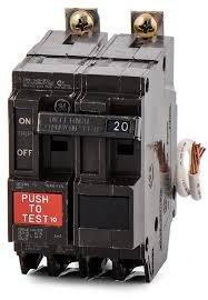 General Electric THQB2120GF Two Pole, 20 Amp Bolt-On GFCI Circuit Breaker, 240V