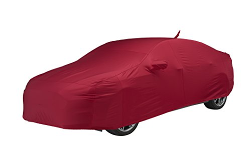 - Covercraft Custom Fit Car Cover for Select Fiat 500 Models - Fleeced Satin (Red)