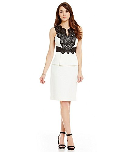 74b0fd7c097 Antonio Melani Lily Contrast Lace Sleeveless Sheath Dress Size 8