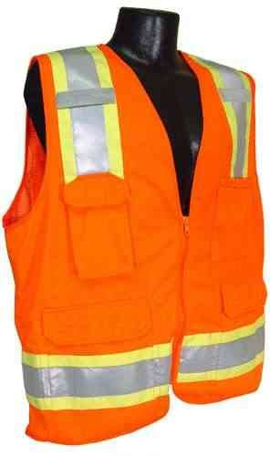 Radians SV6 Adult's Two Tone Surveyor CL-2 Safety Vest Orange Small by Radians