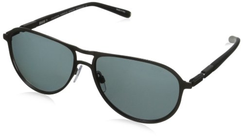 Bmw Hinges (BMW B6510 Polarized Modern Foldable Aviator Sunglasses,Matte Steel57 mm)