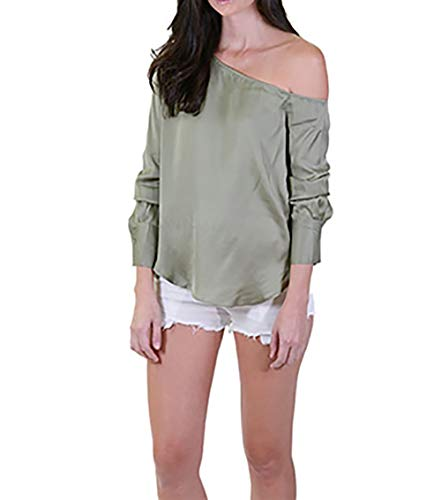 Blaque Label One Shoulder Blouse Small in Sage