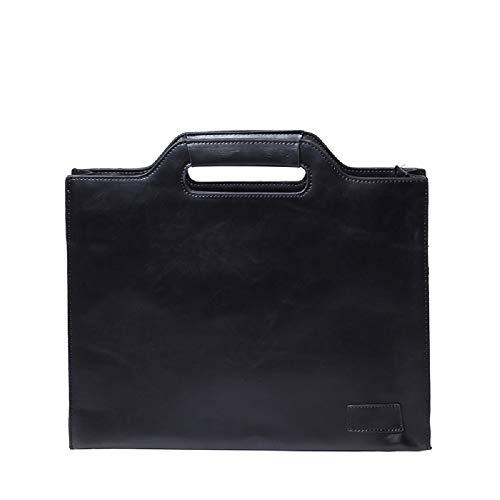 Bolso ZHRUI Hombres Negocios Ocio Negro Hombro Bolso Bolso la Envolvente los de de de maletín Mensajero de Cuero 1 PU de de de Negro Bolso Paquete Bolso rPtBqr
