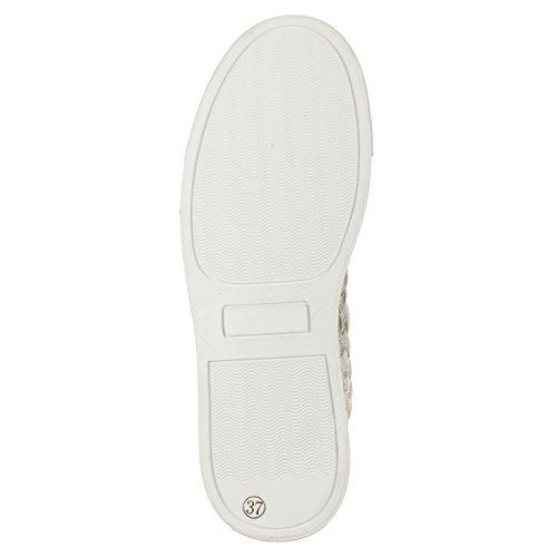 Woz?  Woz-up327ba_37, Damen Sneaker weiß Bianco 37