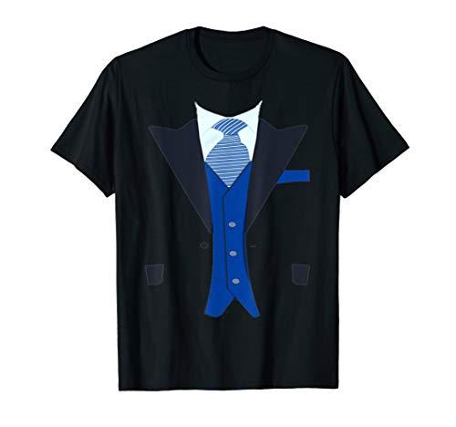 Funny Faux Fake Tuxedo Suit T-Shirt with Vest