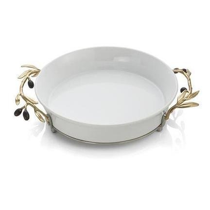 Michael Aram Olive Branch Gold Pie Plate by Michael Aram