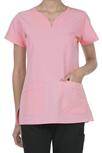 8045 Women's Uniform Scrubs Medical 2 Pocket Scrub Top Blush L