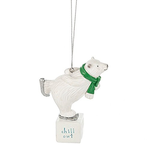 Midwest-CBK Chill Out Ice Skating Polar Bear Ornament (Ice Skating Polar Bear)