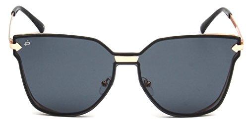 """Custom Microfiber Lens Cloth (PRIVÉ REVAUX """"The Madam"""" Handcrafted Designer Futuristic Sunglasses For Women (Black))"""