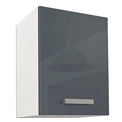 START Meuble haut de cuisine L 40 cm - Gris Brillant: Amazon ...