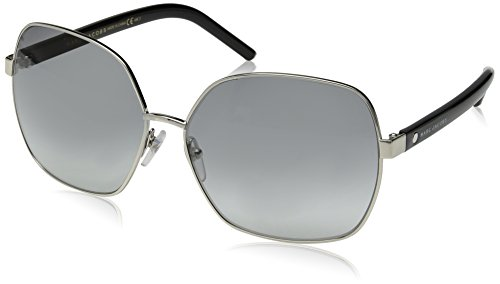 Marc Jacobs Women's Marc65s Square Sunglasses, Palladium Black/Gray Gradient, 61 mm