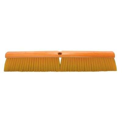 No. 19 Line Floor Brushes - 24''yellow plastic floorbrush without han