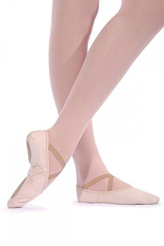 Roch Valley 2SSC Ballettschläppchen aus Leinen mit geteilter Sohle Blassrosa 5.5L (39)