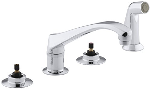 KOHLER K-7765-K-CP Triton Kitchen Sink Faucet, Polished Chrome (Handles Not Included)