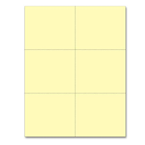(Laser Printer Blank Perforated Cards 6 up per Page (Canary, 300 Cards))